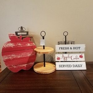 Brand new fall apple theme home decor accents
